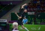 K.Navickas badmintono turnyre Ukrainoje tik po trijų setų kovos pralaimėjo vienam iš favoritų