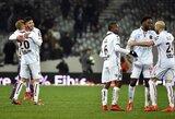 """""""Ligue 1"""": netikėti lyderių pralaimėjimai, nerealizuotas E.Cavani baudinys bei """"Nice"""" pergalė mažumoje"""
