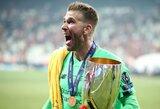 """""""Liverpool"""" vartininkų krizė tęsiasi: UEFA Supertaurėje triumfo metu fano sužeistas Adrianas gali praleisti rungtynes su """"Southampton"""""""