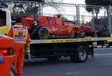 """Pamatykite: """"Ferrari"""" ir """"Williams"""" pilotai rėžėsi į tą pačią sieną, """"pole"""" poziciją iškovojo V.Bottas"""