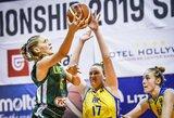 Aštuoniolikmetės krepšininkės nusileido Europos čempionato šeimininkėms