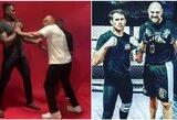 M.Tysonas parodė F.Ngannou, kaip nugalėti T.Fury, britas įžengė į MMA narvą