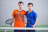 M.Vasiliauskas vyrų tenise debiutavo pergalėmis, turnyre dalyvauja ir treneris