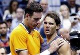 R.Nadaliui kelią į finalą užtvėrė trauma, N.Djokovičius nesulaukė pasipriešinimo iš K.Nishikori