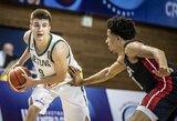 Lietuvos devyniolikmečių rinktinė pasaulio čempionate neatsilaikė prieš JAV