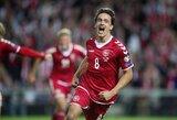 Pasaulio čempionato atranka: Danija sutrypė Lenkiją, anglai ir vokiečiai sunkiai palaužė varžovus