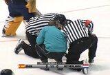 Lietuvos ledo ritulininkai nesužinojo paskutinių varžovų olimpinėje atrankoje – rungtynės nebaigtos dėl netinkamų sąlygų arenoje