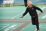 Badmintono treniruotė senjorams grąžino jaunystės azartą