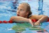 Pusfinalio plaukimą laimėjusi R.Meilutytė pasaulio čempionate pateko į finalą, J.Jefimova – vėl greičiausia (komentaras)