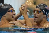 JAV plaukikai Londone iškovojo du aukso medalius, bet fiasko patyrė R.Lochte