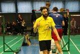 Nors ir sulėtinęs tempą, K.Navickas badmintoną kelia į aukštumas Lietuvoje