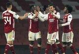 """Europos lyga: """"Arsenal"""" iškovojo užtikrintą pergalę, """"Milan"""" patyrė triuškinamą pralaimėjimą"""
