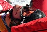 Pamatykite: Pjongčango olimpiadoje – šiurpus Rusijos kalnų slidininko kritimas