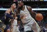 """Įspūdingoje L.Jameso ir N.Jokičiaus dvikovoje – """"Cavaliers"""" puolėjo šou paskutinėmis minutėmis"""
