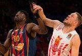 """""""Baskonia"""" užtikrintai nugalėjo """"Crvena Zvezda"""" krepšininkus"""