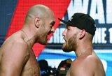 Paskutinė akistata prieš kovą: T.Fury svėrė daugiau nei prieš dvikovą su D.Wilderiu, T.Schwarzas pagerino savo svorio rekordą