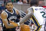 """J.Johnsonas ir A.Blatche pelnė daugiau nei pusšimtį taškų, o """"Nets"""" Jutoje laimėjo po šešerių metų pertraukos"""