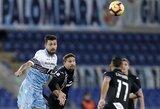 """Italija: 100 minučių trukusioje dvikovoje – VAR įsikišimas, raudona kortelė ir """"Lazio"""" apmaudas"""