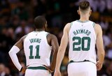 """D.Adomaitis stebėjo, kaip K.Irvingas ir G.Haywardas pergalingai debiutavo """"Celtics"""" gretose"""