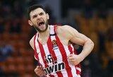 """""""Olympiacos"""" palaužė tragiškai iš toli atakavusius """"Panathinaikos"""" krepšininkus"""