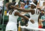 """""""Didžiojo kirčio"""" turnyruose dominuojančios seserys Serena ir Venus Williams susitinka tarpusavyje: rekordais apipinta dvikova"""