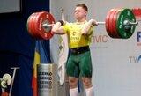 Sunkiaatletis D.Anuškevičius pasaulio čempionate papildė olimpinės atrankos įskaitinių taškų kraitį
