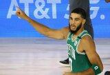 """Taškų rekordą pagerinęs J.Tatumas vedė """"Celtics"""" į antrąją pergalę"""