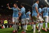 """""""Man City"""" miesto derbyje šventė nesunkią pergalę, """"Arsenal"""" neįveikė """"Swansea"""""""