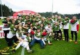 """Rimto pasipriešinimo nesulaukusi, bet mažumoje likusi """"Sūduva"""" triumfavo LFF taurės finale"""