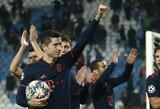 """R.Lewandowskis pelnė 4 įvarčius, o """"Bayern"""" iškovojo triuškinamą pergalę, P.Dybalos fantastiškas smūgis padovanojo """"Juventus"""" pergalę"""