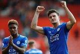 """""""The Sun"""": """"Man United"""" už rekordinę sumą planuoja įsigyti """"Leicester City"""" gynėją H.Maguire'ą"""