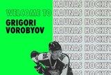 """""""Kaunas Hockey"""" gretose – puolėjas iš vienos stipriausių pasaulio jaunimo lygų"""