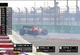 S.Vettelio avarija Rusijoje sujaukė L.Hamiltono planus sekmadienio lenktynėms