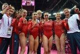 JAV gimnastės triumfavo Londono olimpinių žaidynių komandinėse varžybose