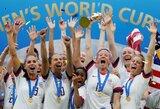 Rezultatyvumo rekordą pagerinusios JAV futbolininkės ketvirtą kartą tapo pasaulio čempionėmis