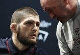 UFC prezidentas pasiruošęs spausti Ch.Nurmagomedovą dėl dar vienos kovos, kalbėjo apie lengvo svorio kategorijos ateitį