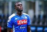 """""""Man City"""" sutarė su K.Koulibaly dėl algos, tačiau """"Napoli"""" nori milžiniškos sumos"""
