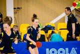 Lietuvos stalo tenisininkės – Europos jaunučių čempionato ketvirtfinalyje