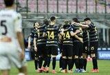 """Triuškinamą pergalę iškovojęs """"Inter"""" sutvirtino """"Serie A"""" lygos lyderio poziciją"""