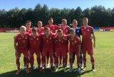 Lietuvos jaunių futbolo rinktinė Baltijos taurėje įspūdingai sutriuškino estus