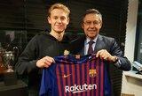 """Prie """"Barcelona"""" prisijungsiantis F.De Jongas: """"Nesigailiu savo sprendimo palikti """"Ajax"""""""