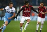 """Italijos taurės pusfinalis: pirmasis susitikimas tarp """"Lazio"""" ir """"AC Milan"""" baigėsi be įvarčių"""