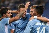 """Ilgai naujokų pasipriešinimą jautę """"Lazio"""" juos sutriuškino per 9 minučių šturmą"""