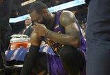 """""""Lakers"""" atnaujino informaciją apie L.Jamesą: vis dar žais be lyderio"""