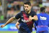 """Geros žinios """"Barcelonai"""": L.Suarezas tikisi sugrįžti į rikiuotę, kai bus pratęstos """"La Liga"""" pirmenybės"""