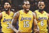 """Kaip """"Lakers"""" gali įsigyti P.George'ą, K.Leonardą ir L.Jamesą?"""