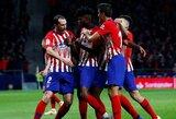 """""""Atletico"""" tik per pridėtą rungtynių laiką išplėšė pergalę prieš lygos autsaiderius"""