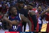 Po krepšinio rungtynių vos nesusimušė du buvę NBA žaidėjai