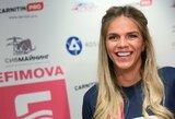 """Puikų rezultatą užfiksavusi J.Jefimova pasiuntė žinutę R.Meilutytei: """"Tavo rekordas kris"""""""