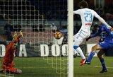 """T.Krapiko atstovaujamas """"Sampdoria"""" klubas skaudžiai krito prieš """"Napoli"""""""